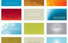 12 כרטיסי ביקור צבעוניים בוקטור להורדה