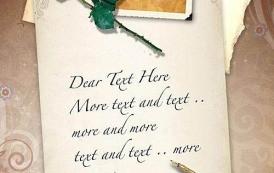 psd מדהים של מכתב מעוצב בסגנון וינטאג' להורדה