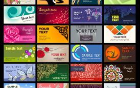 אוסף גדול של כרטיסי ביקור מעוצבים להורדה