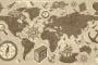 גרפיקה וקטורית להורדה: מפה מעוצבת של העולם