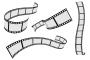 גרפיקה וקטורית להורדה – 4 סלילי סרט