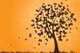 גרפיקה וקטורית להורדה: עץ המעוצב מפרפרים