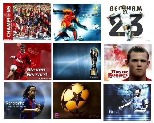 רקעים של כדורגל