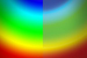 הוכחת צבעים - צבעי הדפסה לצד צבעים דיגיטליים