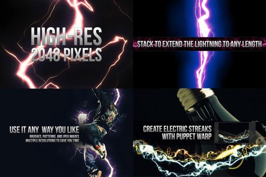 מברשות לפוטושופ של ברקים ואורות