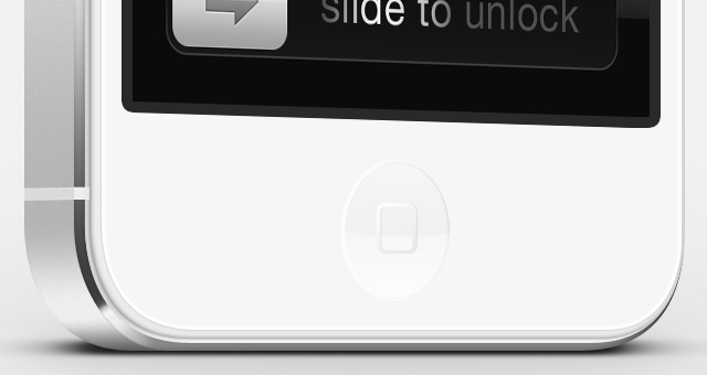 עצוב בPSD להורדה של אייפון 5 לבן