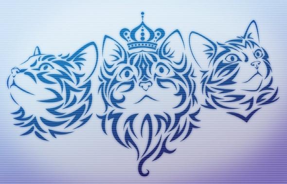 מברשות לפוטושופ- עיצוב חתולים