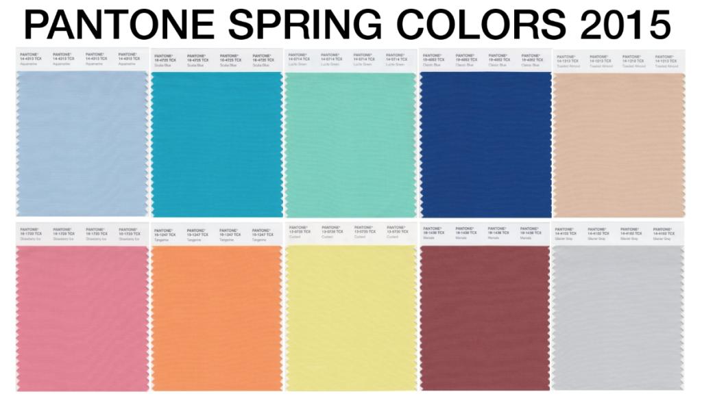 צבעי הפנטון החדשים של אביב 2015