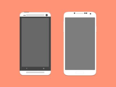 עיצוב HTC ONE וסמסונג גלאקסי 4S להורדה