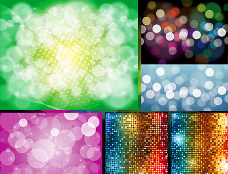 רקעים של אורות וצללים בוקטור