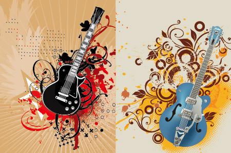 עיצובים להורדה - גיטרות חשמליות מעוצבות