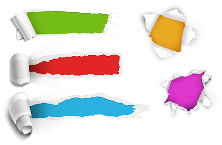 עיצוב של נייר קרוע