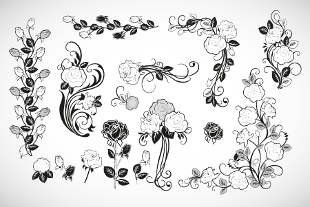 עיטורי פרחים להורדה