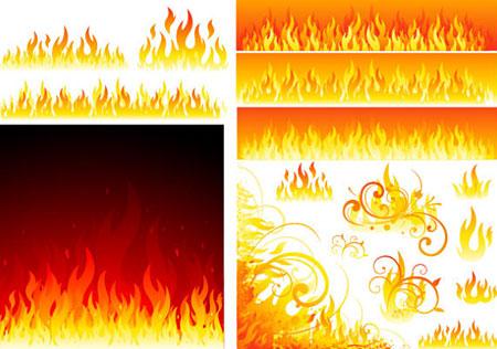 גרפיקה וקטורית להורדה - אש ולהבות