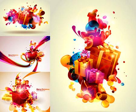 גרפיקה וקטורית - מתנות צבעוניות