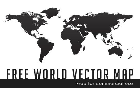 מפת העולם באיור וקטורי להורדה