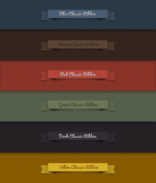 עיצובי סרטים Ribbons להורדה