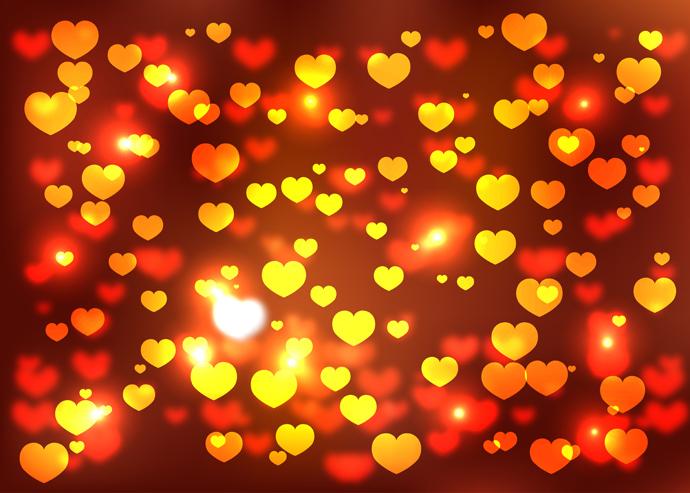 גרפיקה וקטורית - רקעי לבבות