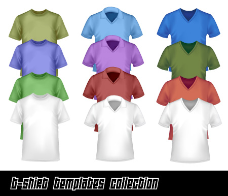 חולצות ריקות בקבצי וקטור להורדה