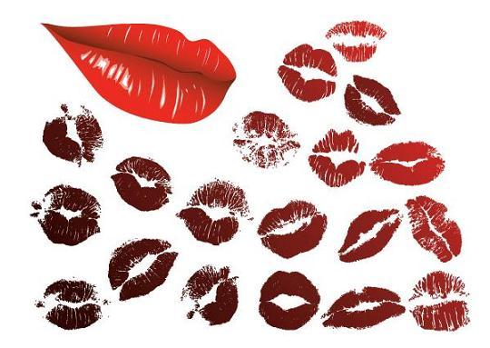 מברשות לפוטושטופ של שפתיים ונשיקות