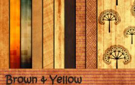 """""""חומים & צהובים"""" – חבילת פטרנים איכותית להורדה"""