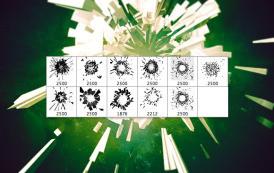 מברשות לפוטושופ של התנפצות חלקיקים