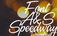 פונט Speedway בסגנון כתב יד חופשי