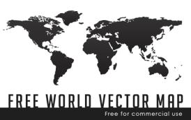 גרפיקה וקטורית להורדה- מפת העולם