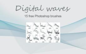 15 מברשות לפוטושופ של גלים ממוחשבים