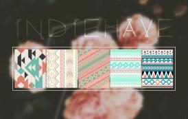 חבילת פטרנים בסגנון בד אינדיאני להורדה